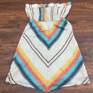 BILLABONG Women's 100% Cotton Chevron Print Dress